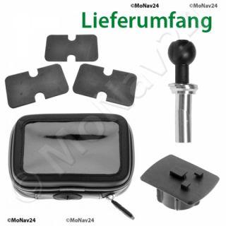 Navi GPS Motorrad Halterung Gabel Lenkerholm wetterfeste Tasche BMW