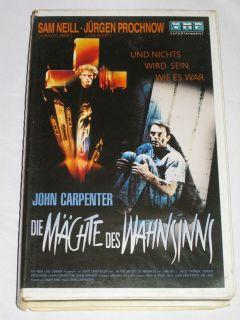 Die Mächte des Wahnsinns   VHS/Horror/Sam Neill/John Carpenter/VMP