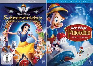 und die sieben Zwerge + Pinocchio (Walt Disney)  4 DVD  999