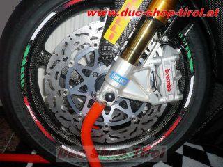 Sticker Aufkleber Felgenrandaufkleber im neuen Tricolore Corse Design