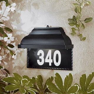 Minka 8000 66 PL Home Number Plate , Black