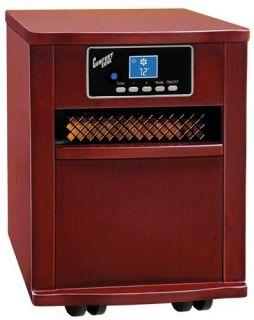 Comfort Zone CZ2011C Infrared Quartz Heater, Cherry