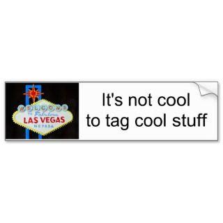 protest graffiti on Las Vegas sign Bumper Sticker