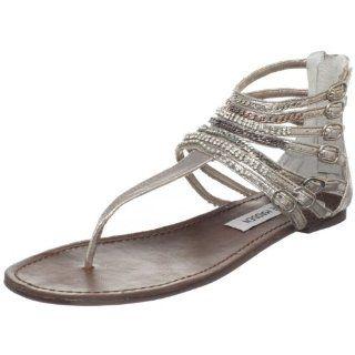 com Steve Madden Womens Simple L T Strap Sandal Steve Madden Shoes