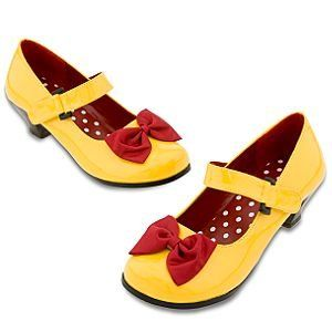 Disney Minnie Mouse Costume Shoes for Women   Yellow Clothing