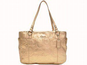 Coach Signature Embossed Large Gallery Bag Purse Tote