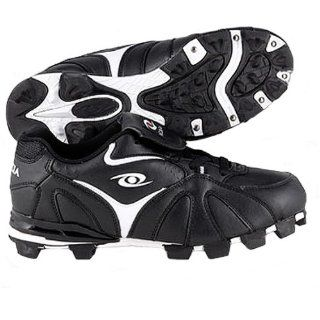ACACIA Youth RBI Low Baseball Cleats BLACK/WHITE 13Y Shoes