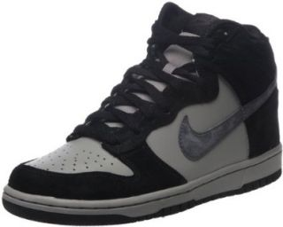 Black/Gray Suede Swoosh Hi Fashion Sneakers Men Shoes (8.5) Shoes