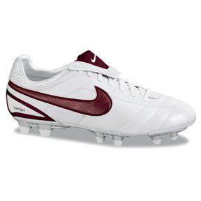 Nike Air Legend FG II Soccer Shoes White/Red Size 13 Shoes