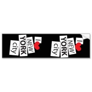 Love New York City Bumper Sticker