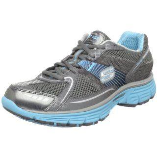 Skechers Womens Ready Set Sport Sneaker,Charcoal/Aqua,10 M US Shoes