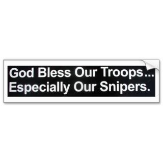 GOD BLESS OUR TROOPS 2 BUMPER STICKERS