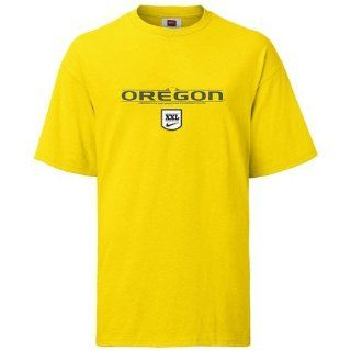 Nike Oregon Ducks Gold Football Practice T shirt: Sports