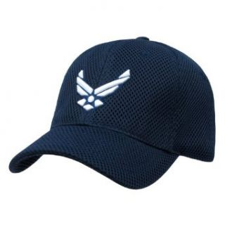 Navy Blue Air Force Wing Military Air Mesh Cap Hat