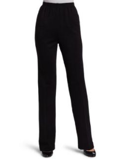 Alfred Dunner Womens Proportioned Medium Pant, Black, 16