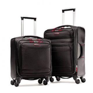 Samsonite Luggage Lightweight 2 Piece Set, Black/Red, Set