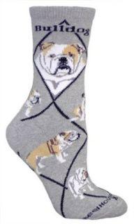 Bulldog Cotton Puppy Dog Breed Animal Socks 9 11 Clothing
