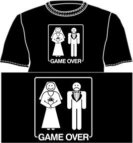 Game Over Funny Marriage T Shirt Select Shirt Size Medium
