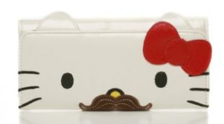 Hello Kitty Mustache Face Wallet Clothing