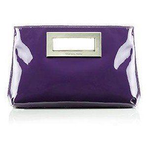 MICHAEL Michael Kors Berkley Patent Clutch Purple