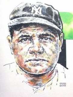 Babe Ruth New York Yankees Print Sports & Outdoors