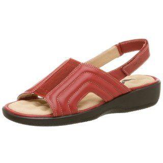 Softwalk Womens Sun Shine Slingback Sandal,Dark Red,7 M Shoes
