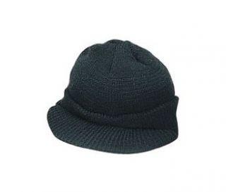 7708 Genuine G.I. Wool Jeep Cap   Black Clothing