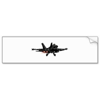 18 Hornet Fighter Jet Bumper Sticker.Art by SunnyStars.