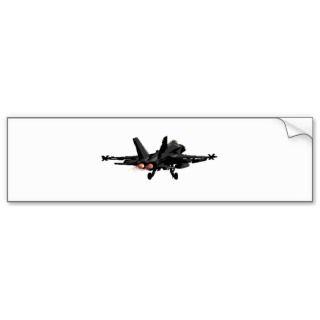 18 Hornet Fighter Jet Bumper Sticker.Art by SunnyStars.