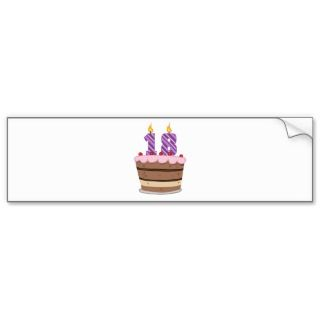 18 Year Old Birthday Cake Fridge Magnet