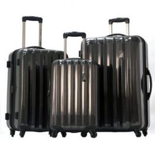 Olympia Luggage Titan 3 Piece Spinner Hardside Set, Black
