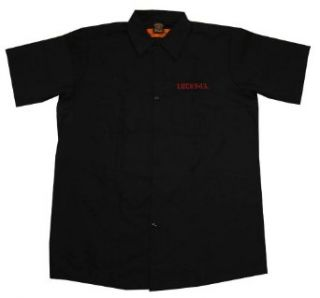 Lucky 13 Thirteen Queen Die Rockabilly Adult Work Shirt