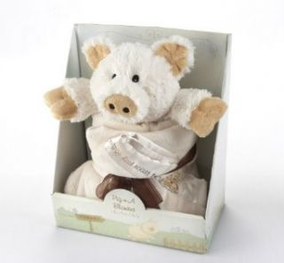 Baby Aspen Pig n A Blanket 2 Piece Gift Set Clothing