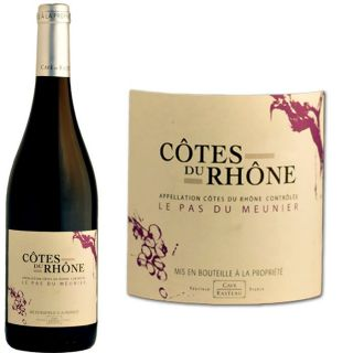 Le Pas du Meunier Côtes du Rhône 2010   Achat / Vente VIN ROUGE Pas