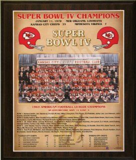 1969 Kansas City Chiefs Super Bowl Champions Healy Plaque