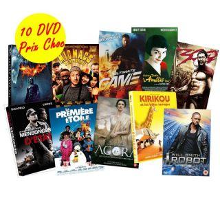 PACK DVD 10 FILMS en DVD FILM pas cher