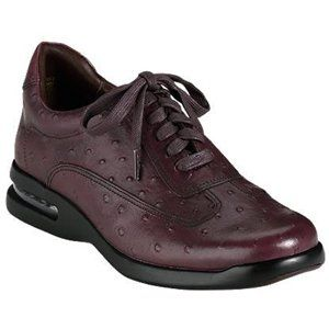 Cole Haan Mens C09675 Ostrich Print Sneaker, Tobacco, 8.5M Shoes
