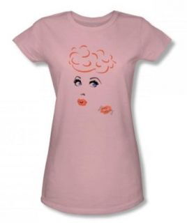 I Love Lucy   Eyelashes Juniors / Girls T Shirt In Pink