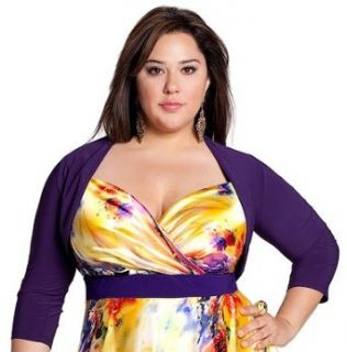 IGIGI by Yuliya Raquel Plus Size Bolero Style Shrug in