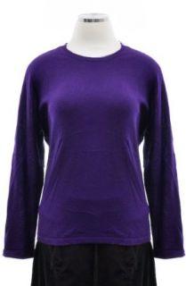 Ralph Lauren Lake House Purple Silk Cashmere Blend Round