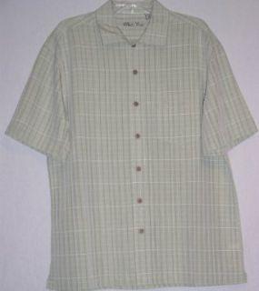 Batik Bay Mens Casual Button Front Shirt (Medium, Olive
