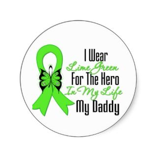 Cancer Ribbon Stickers, Lymphoma Cancer Ribbon Sticker Designs