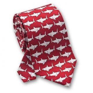 Sharks Swimming   Mens Silk Necktie Clothing