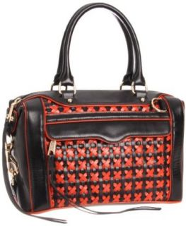Rebecca Minkoff Mab Mini Weave 10NIKWCF32 Handbag,Black