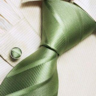 Italian style Green designer ties for men silk necktie