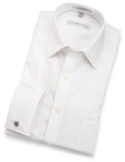 Cool & Dry Broadcloth French Cuff Woven Shirt,White,15 32/33 Clothing