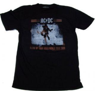Sourpuss AC/DC 1988 WORLD TOUR SLIM FIT MENS TEE  All