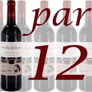 Carton de 12 XXL de Sebastien Chabal   AOC Bergerac   Millésime 2009