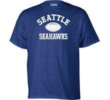 Seattle Seahawks NFL Team Logo T Shirt font color#990000