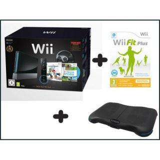 Pack Wii Noire Mario kart + Fitness Startion DEA   Achat / Vente WII